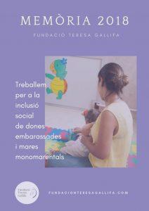 Memòria activitat 2018 Fundació Teresa Gallifa